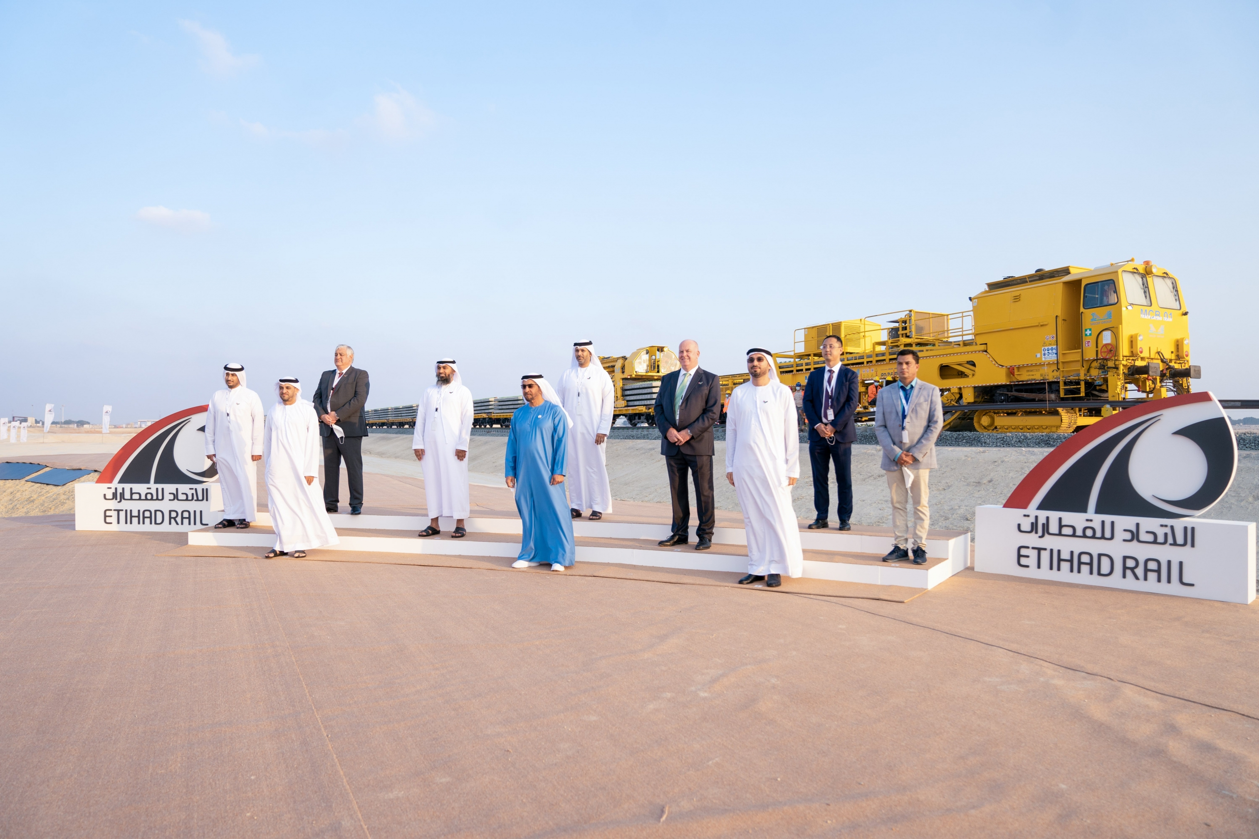 Track Laying Works Begin for Package A for Stage 2 of Etihad Rail